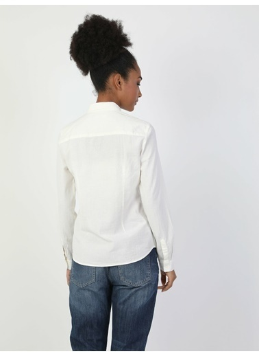 Colin's Relaxed Beyaz Uzun Kol Gömlek Beyaz